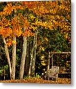 A Romantic Autumn Spot In Inlet Metal Print