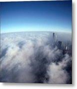 A Shadow Of The Sears Tower Slants Metal Print