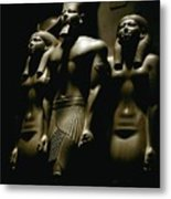 A Statue Of Pharoh Menkaura Metal Print