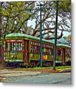 A Streetcar Named St. Charles Metal Print