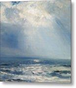 A Sunbeam Over The Sea Metal Print