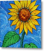 A Sunflower Metal Print