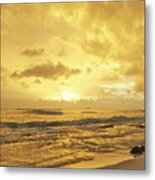 A Sunrise Over Oahu Hawaii Metal Print