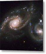 A Triplet Of Galaxies Known As Arp 274 Metal Print