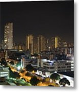 A Typical Night In Singapore Metal Print