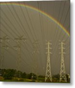 A Vast Array Of Electrical Towers Metal Print