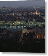 A View Of Lyon Between The Pont De La Metal Print
