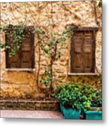 A Wall In Chania Metal Print