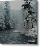 A Winter Waterland Metal Print