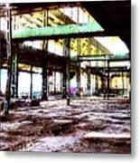 Abandoned Industry Metal Print