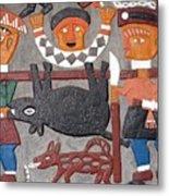 Aboriginal Painted Wall Decoration Metal Print