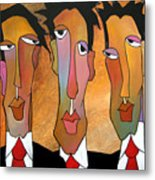 Abstract Art Original Painting - Mad Men Metal Print