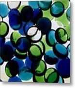 Abstract Blue Green II Metal Print