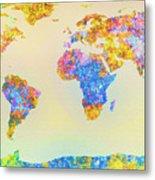 Abstract Earth Map 2 Metal Print