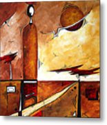 Abstract Figurative Art African Flame By Madart Metal Print