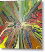 Abstract Garden Wrapped Metal Print