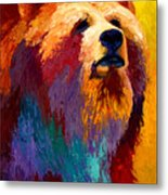Abstract Grizz Metal Print