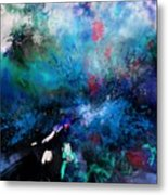 Abstract Improvisation Metal Print