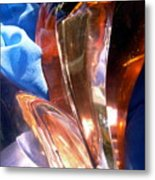 Abstract In Red And Blue Metal Print