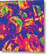 Abstract Multi-colors Metal Junk Metal Print
