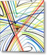 Abstract Pen Drawing Eighteen Metal Print