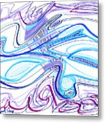 Abstract Pen Drawing Forty-two Metal Print