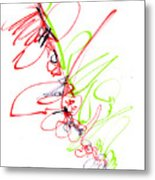 Abstract Pen Drawing Seventy Metal Print
