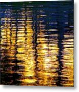 Abstract Reflection In Water 03 Metal Print