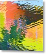 Abstract Reflection In Water 04 Metal Print