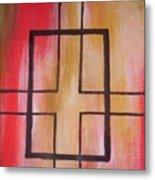 Abstract Squares Metal Print