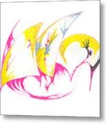 Abstract Swan Metal Print