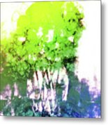 Abstract Trees In The Everglades Metal Print