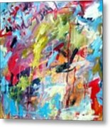 Abstract With Drips And Splashes Metal Print