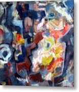 Abstract With Flowers 2   Metal Print