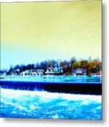 Across The Dam To Boathouse Row. Metal Print