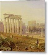 Across The Forum - Rome Metal Print by Hugh William Williams