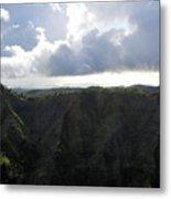 Aerial Canyon View Of Kauai Metal Print