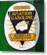 Aerogas Green Pump Metal Print