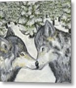 Affection In The Wild Metal Print