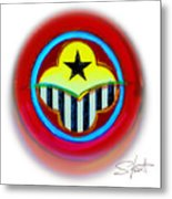 African American Button Metal Print