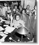 African Americans Lined Up To Register Metal Print