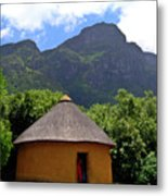 African Hut South Africa Metal Print