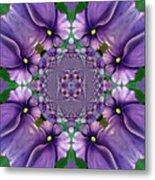 African Violet Wave Metal Print