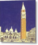 After St. Mark's Square Towards The Basilica Metal Print