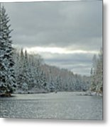 After The Snowstorm Powder Metal Print