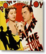 After The Thin Man, Myrna Loy, Asta Metal Print by Everett