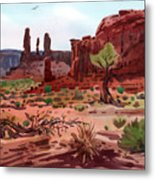 Afternoon In Monument Valley Metal Print