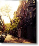 Afternoon Sunlight On A New York City Street Metal Print by Vivienne Gucwa