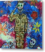 Air Force Day Of The Dead Metal Print