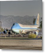 Air Force One In Palm Springs Metal Print
